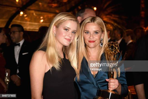 Ava Elizabeth Phillippe and Reese Witherspoon attend the HBO's Official 2017 Emmy After Party at The Plaza at the Pacific Design Center on September...