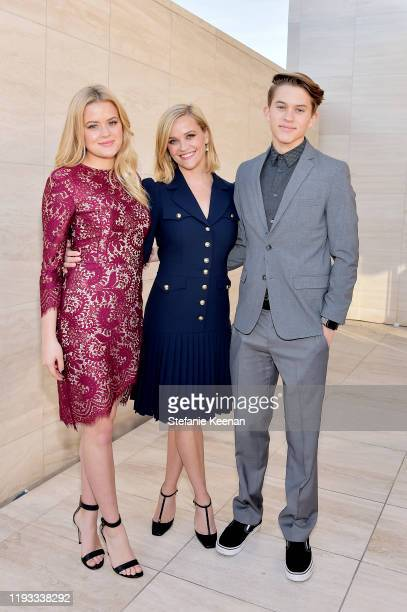 Ava Elizabeth Phillippe, honoree Reese Witherspoon, and Deacon Reese Phillippe attend The Hollywood Reporter's Power 100 Women in Entertainment at...