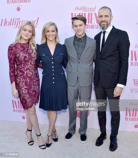 Ava Elizabeth Phillippe Reese Witherspoon Deacon Reese Phillippe and Jim Toth arrive at The Hollywood Reporter's Annual Women in Entertainment...