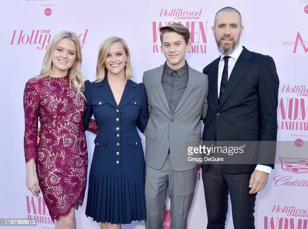 Ava Elizabeth Phillippe, Reese Witherspoon, Deacon Reese Phillippe, and Jim Toth arrive at The Hollywood Reporter's Annual Women in Entertainment...