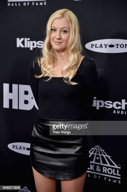 Ava Elizabeth Sambora attends the 33rd Annual Rock Roll Hall of Fame Induction Ceremony at Public Auditorium on April 14 2018 in Cleveland Ohio
