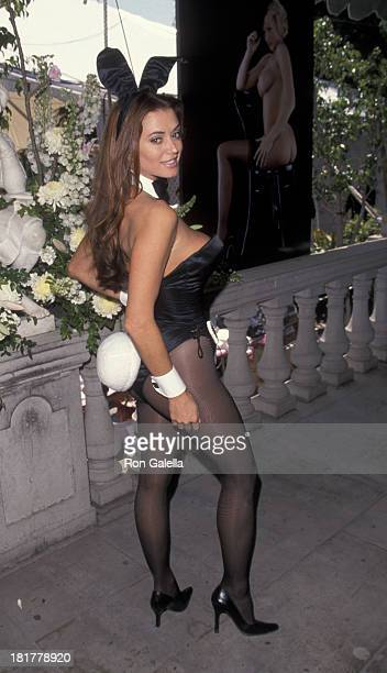 Ava Fabian attends Playboy Magazine Playmate of the Year Party on April 29 1999 at the Playboy Mansion in Beverly Hills California