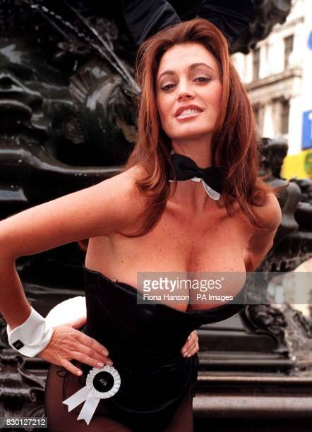 Ava Fabian hopped into action at London's Cafe de Paris to launch the search for a new generation of Playboy bunny girls. The organisation wants 40...