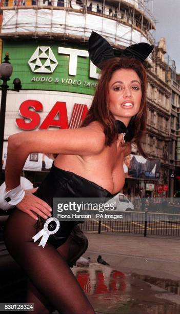Ava Fabian hopped into action at London's Cafe de Paris to launch the search for a new generation of Playboy bunny girls The organisation wants 40...