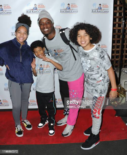 Ava Farmer Jakari Fraser Willdabeast Adams and Aiden Farmer arrive for the No Kid Hungry DanceAThon held at Imma Space on December 30 2019 in North...