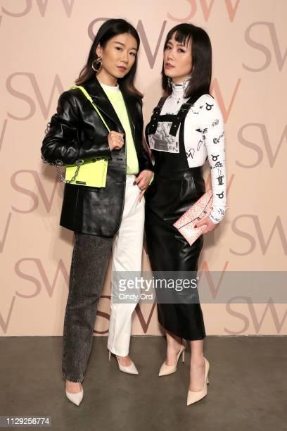 Ava Foo and Nikki Min attend Stuart Weitzman Spring Celebration 2019 on February 12 2019 in New York City