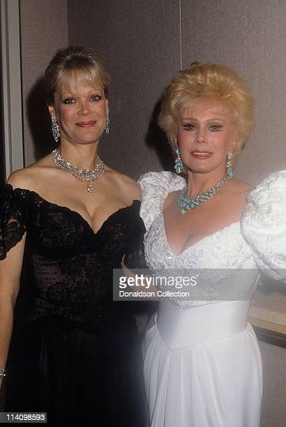 Ava Gabor and Candy Spelling pose for a portrait in September 1987 in Los Angeles California