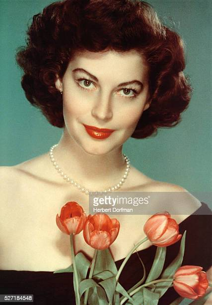 Ava Gardner with Tulips