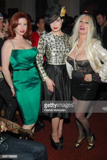 Ava Garter Dita Von Teese and Mamie Van Doren attend Mauricio and Roger Padilha's The Stephen Sprouse Book Launch at The Chateau Marmont on March 10...