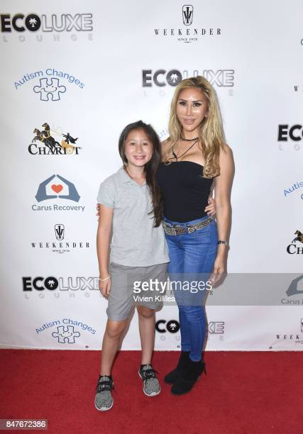 Ava Goldsmith and Tess Broussard attend the EcoLuxe PreAwards Party on September 15 2017 in Beverly Hills California