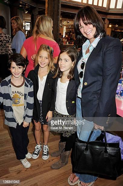 Ava Jones Lila Grace Moss Stella Jones and Miranda Davis attend the launch of the Liberty Art Fabrics for Hello Kitty Collection at Liberty London on...