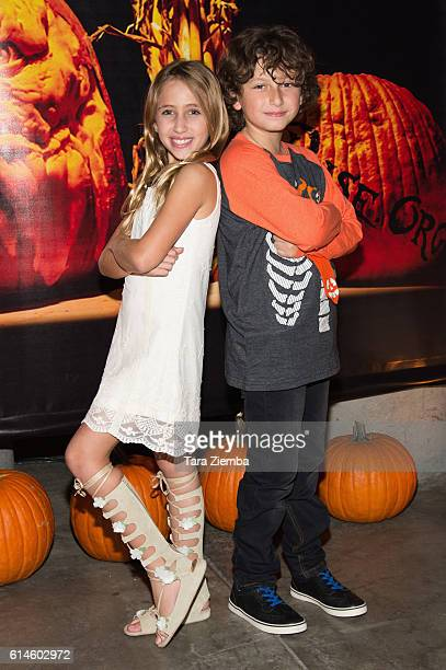 Ava Kolker and August Maturo attend Rise of the Jack O'Lanterns at Los Angeles Convention Center on October 13 2016 in Los Angeles California