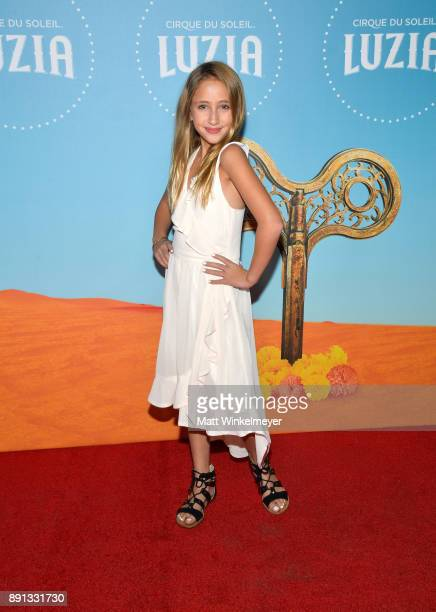 Ava Kolker attends Cirque du Soleil presents the Los Angeles premiere event of Luzia at Dodger Stadium on December 12 2017 in Los Angeles California