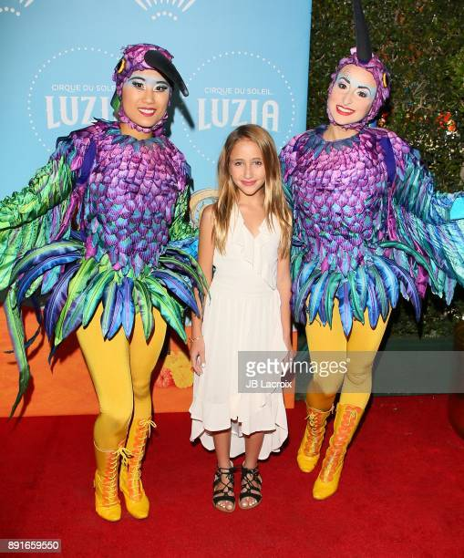 Ava Kolker attends Cirque du Soleil presents the Los Angeles premiere event of 'Luzia' at Dodger Stadium on December 12 2017 in Los Angeles California