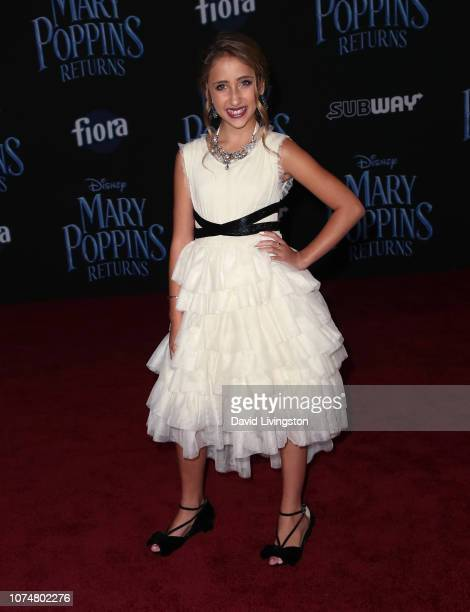 Ava Kolker attends the premiere of Disney's Mary Poppins Returns at the El Capitan Theatre on November 29 2018 in Los Angeles California