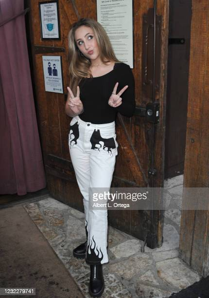 Ava Kolker attends the Sweet 16 Birthday Party for actress Chalet Lizette Brannan at Saddle Ranch Chop House on April 12, 2021 in West Hollywood,...