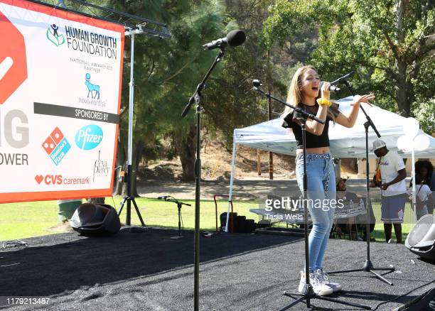 Ava Kolker performs onstage during the 4th Annual Say NO Bullying Festival at Griffith Park on October 05 2019 in Los Angeles California