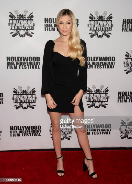 Ava Locklear arrives at A Dark Foe Film Premiere on February 15 2020 in Los Angeles California