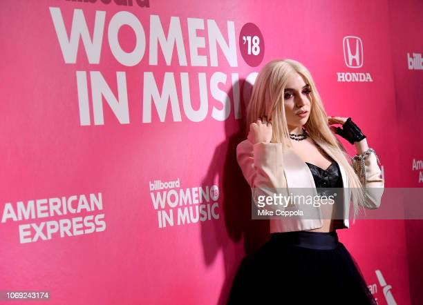 Ava Max attends Billboard Women In Music 2018 on December 6 2018 in New York City