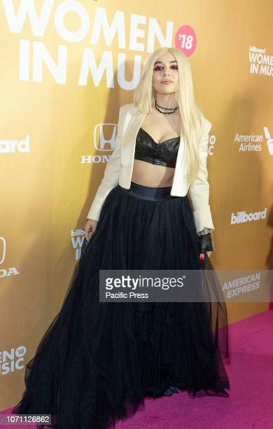 Ava Max attends Billboard's 13th Annual Women in Music gala at Pier 36