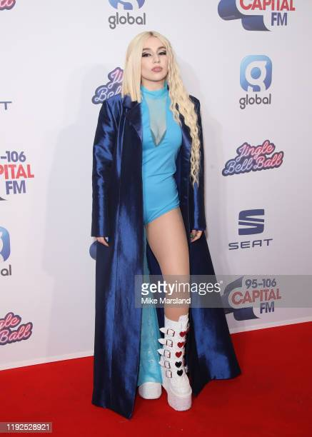 Ava Max attends Capital's Jingle Bell Ball 2019 at The O2 Arena on December 07, 2019 in London, England.