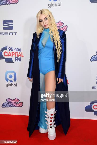 Ava Max attends Capital's Jingle Bell Ball 2019 at The O2 Arena on December 07 2019 in London England