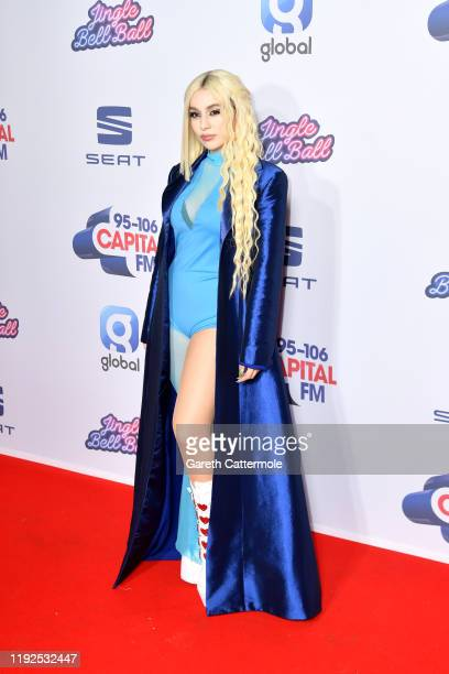 Ava Max attends Capital's Jingle Bell Ball 2019 with SEAT at The O2 Arena on December 07 2019 in London England