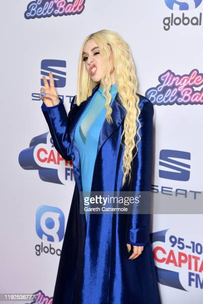 Ava Max attends Capital's Jingle Bell Ball 2019 with SEAT at The O2 Arena on December 07, 2019 in London, England.