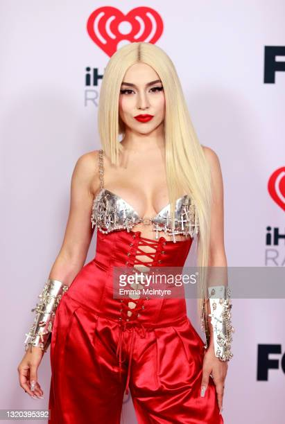 Ava Max attends the 2021 iHeartRadio Music Awards at The Dolby Theatre in Los Angeles, California, which was broadcast live on FOX on May 27, 2021.