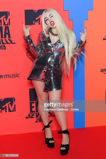 Ava Max attends the MTV EMAs 2019 at FIBES Conference and Exhibition Centre on November 03 2019 in Seville Spain