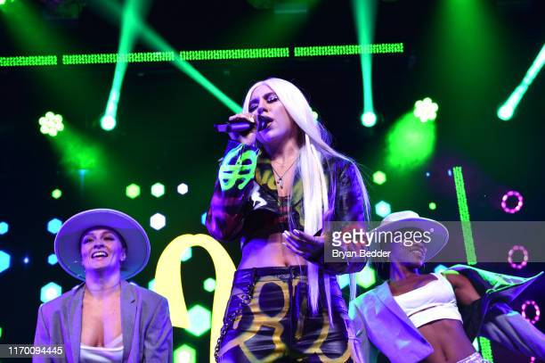 Ava Max performs at VMA Kick Off Concert Presented By Altice Amplify With Special Guests Bishop Briggs And Ava Max at Webster Hall on August 24 2019...