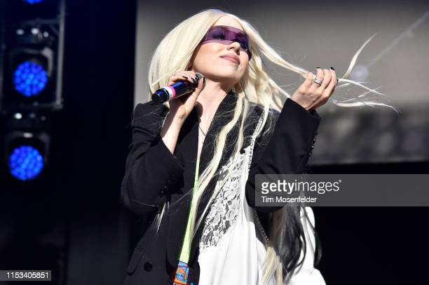 Ava Max performs during Wild 949's Wazzmatazz at Shoreline Amphitheatre on June 02 2019 in Mountain View California
