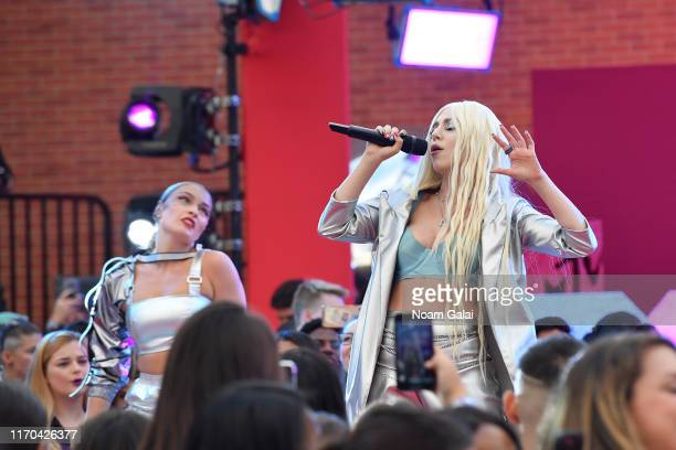 Ava Max performs on the red carpet during the 2019 MTV Video Music Awards at Prudential Center on August 26 2019 in Newark New Jersey