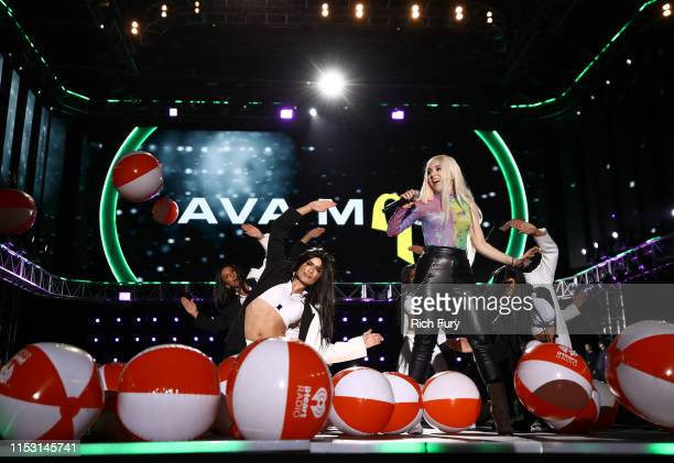 Ava Max performs onstage at 2019 iHeartRadio Wango Tango presented by The JUVÉDERM® Collection of Dermal Fillers at Dignity Health Sports Park on...