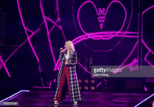 Ava Max preforms at the 15th KKBOX Music Awards on January 18, 2020 in Taipei, Taiwan.