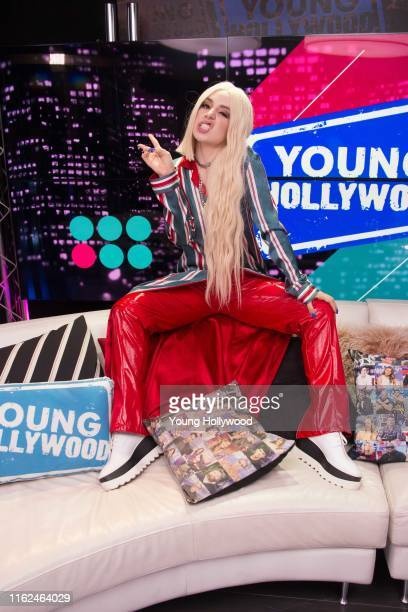 Ava Max visits the Young Hollywood Studio on July 16 2019 in Los Angeles California