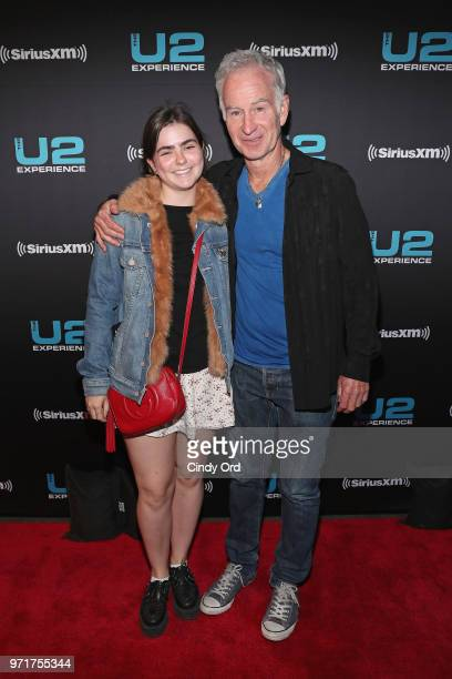 Ava McEnroe and John McEnroe attend SiriusXM's private concert with U2 at The Apollo Theater as the band takes a one night detour from the eXPERIENCE...