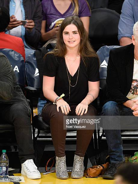 Ava McEnroe attends a basketball game between the Miami Heat and the Los Angeles Lakers at Staples Center on March 30 2016 in Los Angeles California