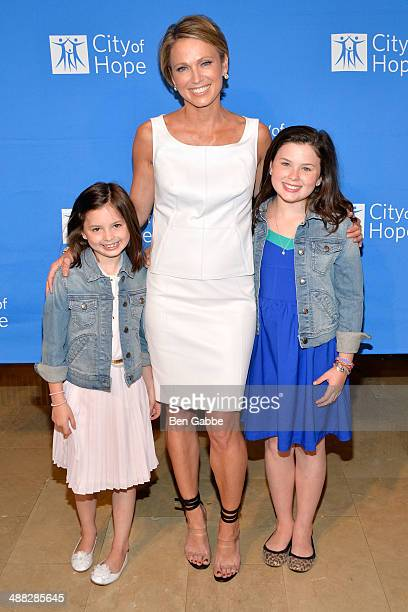 Ava Mcintosh Amy Robach and Annalise Mcintosh attend 2014 Spirit Of Life Awards Luncheon at The Plaza Hotel on May 5 2014 in New York City