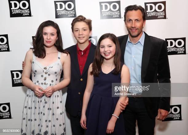 Ava McIntosh Wyatt Shue Annie McIntosh and Andrew Shue attend the 25th Anniversary DoSomethingorg gala at Gotham Hall on April 30 2018 in New York...
