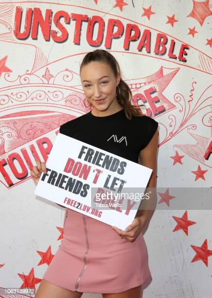 Ava Michelle Cota attends Free2luv hosts AntiBullying Unstoppable Tour De Force Cirque Benefit at The Regent Theatre on November 03 2018 in Los...