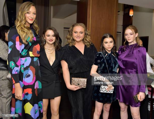 Ava Michelle Joey King Danielle Macdonald Hannah Zeile and Larsen Thompson attend InStyle Kate Spade New York Dinner CoHosted By Laura Brown Nicola...