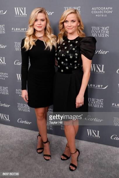 Ava Phillippe and Reese Witherspoon attend the 2017 WSJ Magazine Innovator Awards at Museum of Modern Art on November 1 2017 in New York City