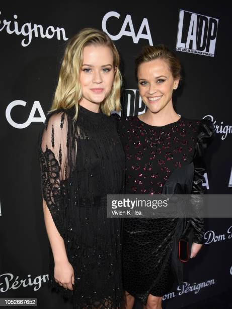 Ava Phillippe and Reese Witherspoon attend the 2018 LA Dance Project Gala at Hauser Wirth on October 20 2018 in Los Angeles California