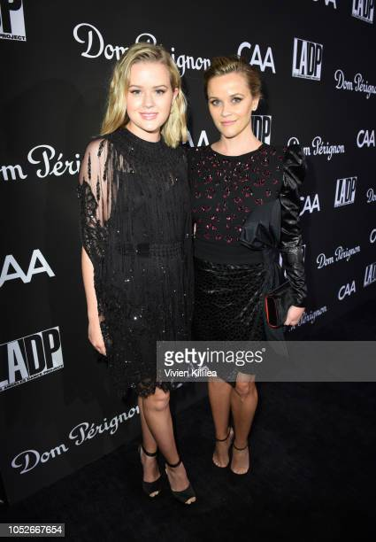 Ava Phillippe and Reese Witherspoon attend the 2018 LA Dance Project Gala at Hauser & Wirth on October 20, 2018 in Los Angeles, California.