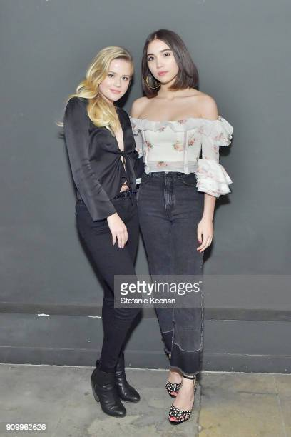 Ava Phillippe and Rowan Blanchard attend Conde Nast The Women March's Dinner Party to Celebrate the One Year Anniversary of the March the Publication...