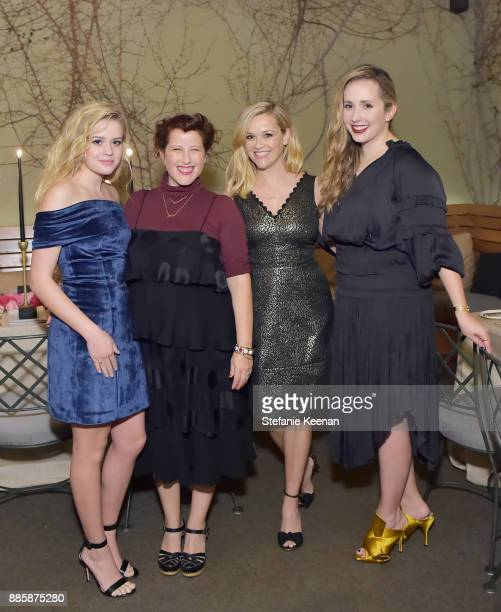 Ava Phillippe Molly R Stern Reese Witherspoon and Zahava Ryzman attend Molly R Stern X Sarah Chloe Jewelry Collaboration Launch Dinner on December 4...