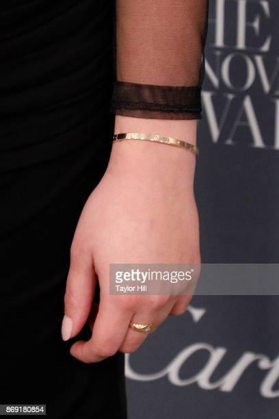 Ava Phillippe ring detail bracelet detail attends the 2017 WSJ Magazine Innovator Awards at Museum of Modern Art on November 1 2017 in New York City