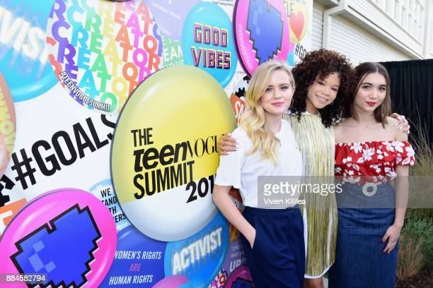 Ava Phillippe Storm Reid and Rowan Blanchard attend The Teen Vogue Summit LA Keynote Conversation with A Wrinkle In Time director Ava Duvernay and...