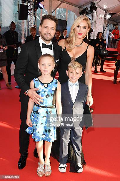 Ava Priestley Jason Priestley Naomi Priestley and Dashiell Priestley attend the 2016 Canada's Walk Of Fame Awards at Allstream Centre on October 6...